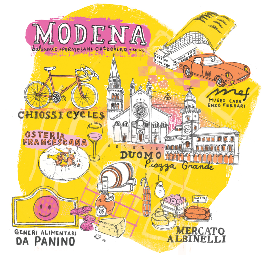 Modena Map for Jamie Magazine Marcela Restrepo Illustrations and